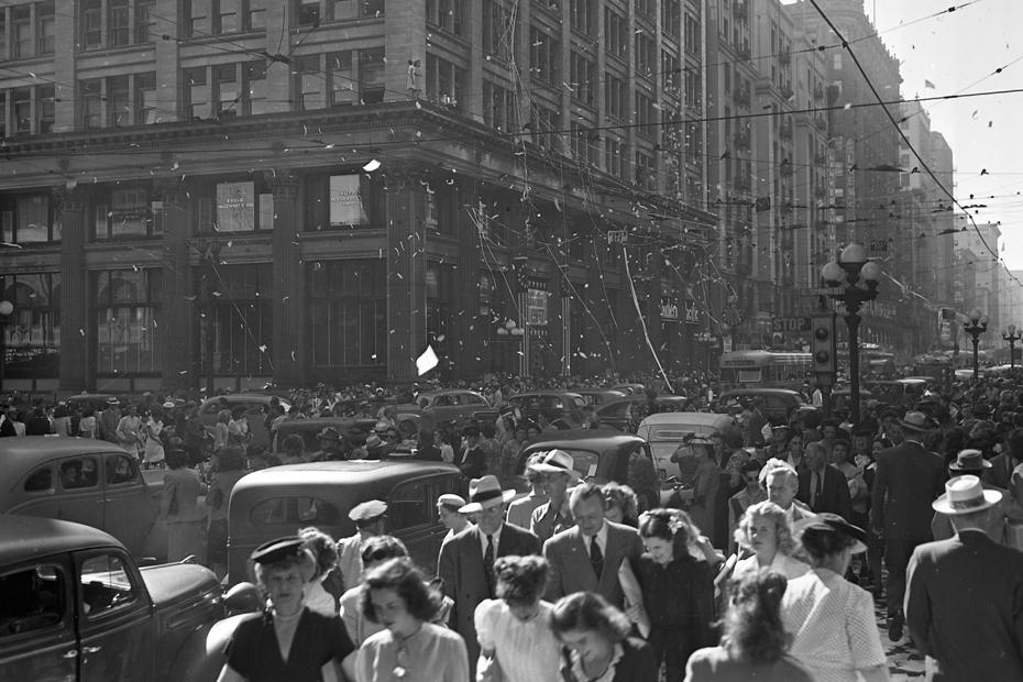 VJ Day, Los Angeles, 1945