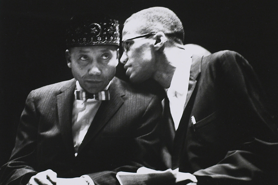 Elijah Muhammad and Malcolm X, Los Angeles, ca. 1963